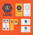 lion logo kids wear emblem identity vector image