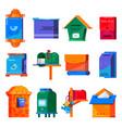 mail box post mailbox or postal mailing vector image
