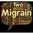 Migraines And Women text background wordcloud vector image vector image