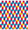 multicolor cubic seamless pattern vector image