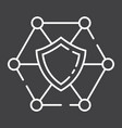 network protection line icon seo and development vector image vector image