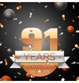 Ninety one years anniversary celebration vector image vector image