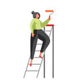 painting wall services flat isolated vector image vector image