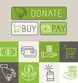 payment buttons in trendy linear style vector image vector image