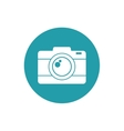 photo camera picture vacation travel button vector image vector image
