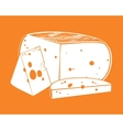 pieces of cheese vector image vector image