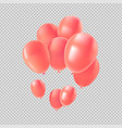 pink helium balloon set for valentines decoration vector image