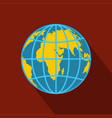 planet earth icon flat style vector image vector image