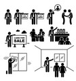 property agent real estate client customer stick vector image