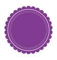purple label round emblem decoration ornate vector image vector image