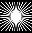 radial rays beams abstract monochrome background vector image vector image