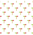 Red and green direction sign pattern cartoon style vector image vector image