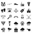 reference icons set simple style vector image vector image