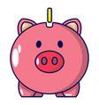 safe money icon cartoon style vector image