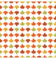 seamless pattern with yellow red and green maple vector image vector image