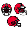 set american football helmets isolated vector image