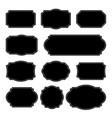 set monochrome vintage frames design elements vector image vector image