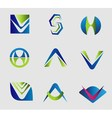 Set of Alphabet letter logo element symbol V A S vector image vector image