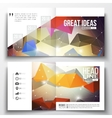 Set of square design brochure template Molecular vector image vector image