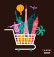 shop travel conceptual symbol vector image vector image