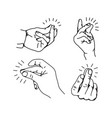 snapping finger gesture vector image vector image