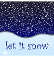 snow background snowfall in paper cut style vector image