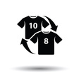 Soccer replace icon vector image