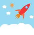 Space rocket flying in the sky The concept vector image