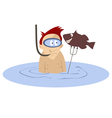 Spear fishing vector image