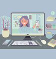 stay and work from home video conference meeting c vector image