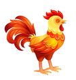 Stylized rooster in fiery colors EPS10 vector image