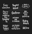 thanksgiving lettering collection vector image vector image