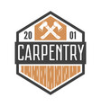 vintage carpentry woodwork and mechanic labels vector image vector image