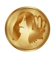 Virgo gold medallion drive vector image vector image