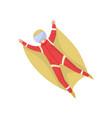 wingsuit jumper in flight active recreation vector image