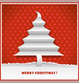 original new year card with christmas tree made fr vector image