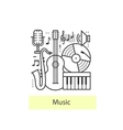 Modern thin line icons music vector image