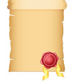old paper with wax seal vector image