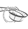 vector blank film strip vector image