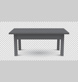 3d table for object presentation empty black top vector image vector image