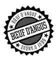 angus beef stamp in french vector image vector image