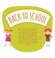 Back to school conept vector image