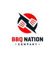 bbq cooker logo design vector image vector image