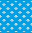 beautiful shell pattern seamless blue vector image vector image