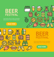 beer and oktoberfest signs banner horizontal set vector image vector image