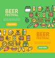 Beer and oktoberfest signs banner horizontal set