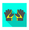 bike hand gloves for cyclists protective vector image vector image