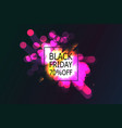 black friday sale banner with abstract light vector image vector image