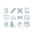 bundle graduation and elearning icons vector image vector image