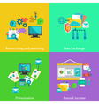 Business flat concepts set vector image